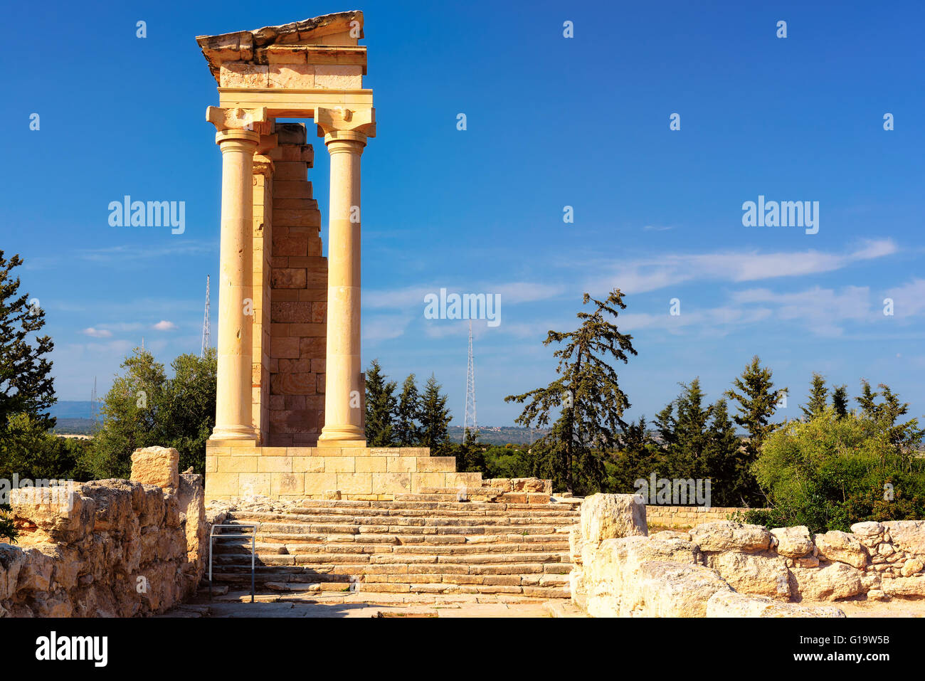 Ruins of Apollo Hylates, Cyprus - Stock Image