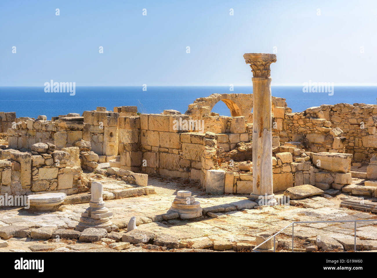Ruins of ancient Kourion. Limassol District. Cyprus - Stock Image