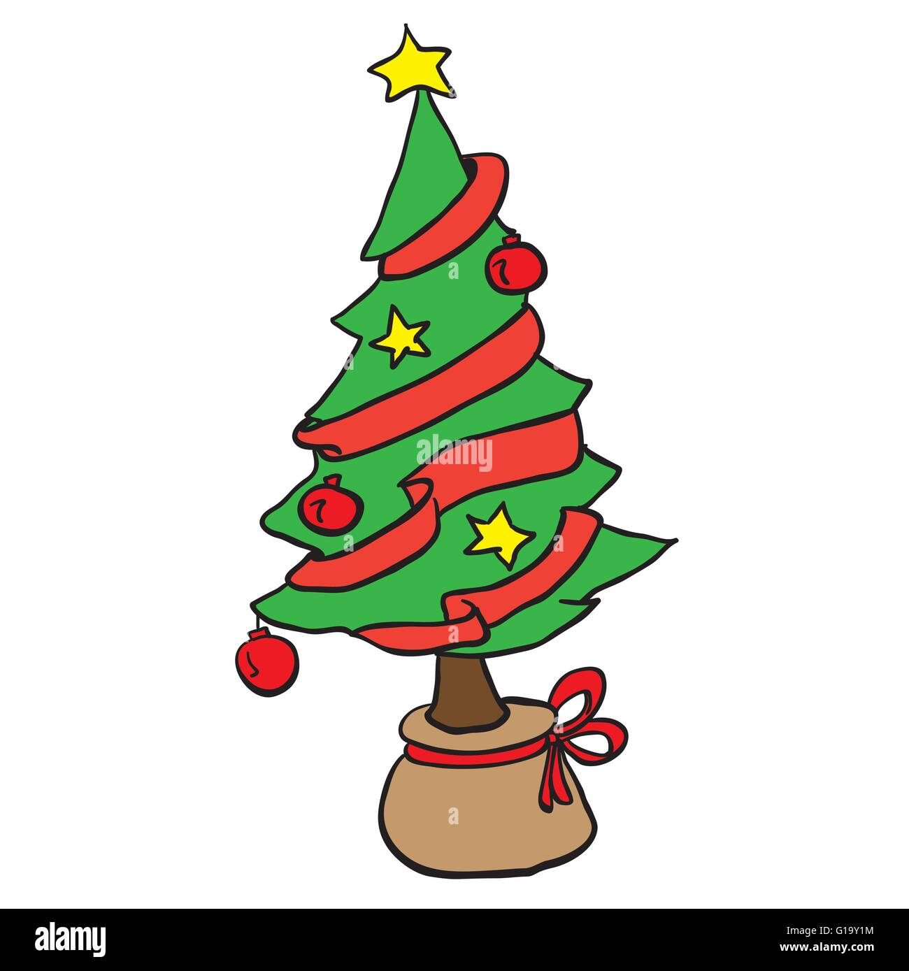 simple christmas tree cartoon stock vector image art alamy https www alamy com stock photo simple christmas tree cartoon 104095648 html