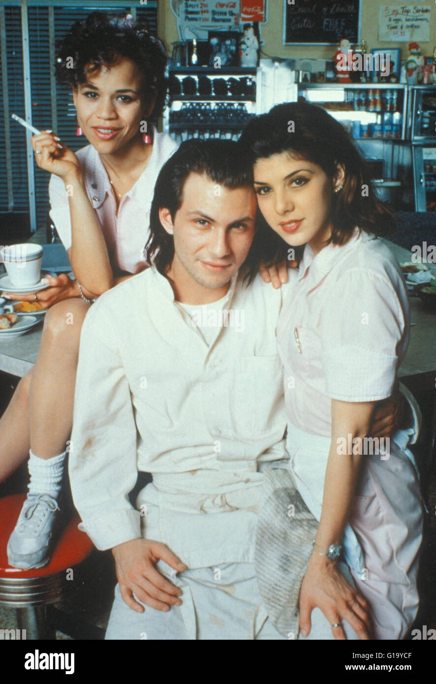 Real Love / Christian Slater / Marisa Tomei - Stock Image