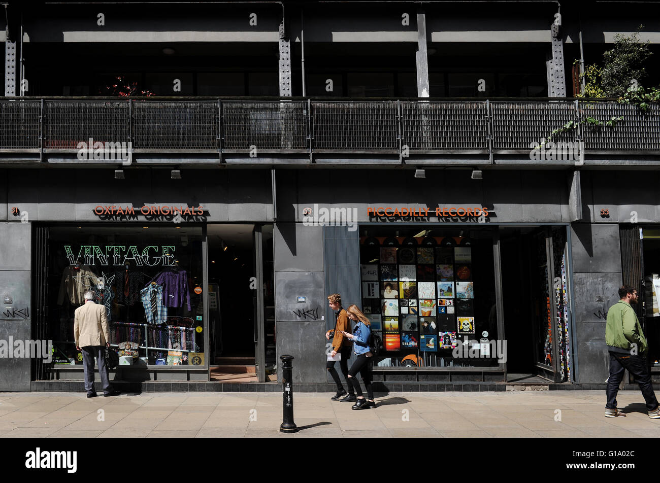 Piccadilly records, Oldham Street, Northern Quarter, Manchester, Tuesday May 10, 2016. - Stock Image