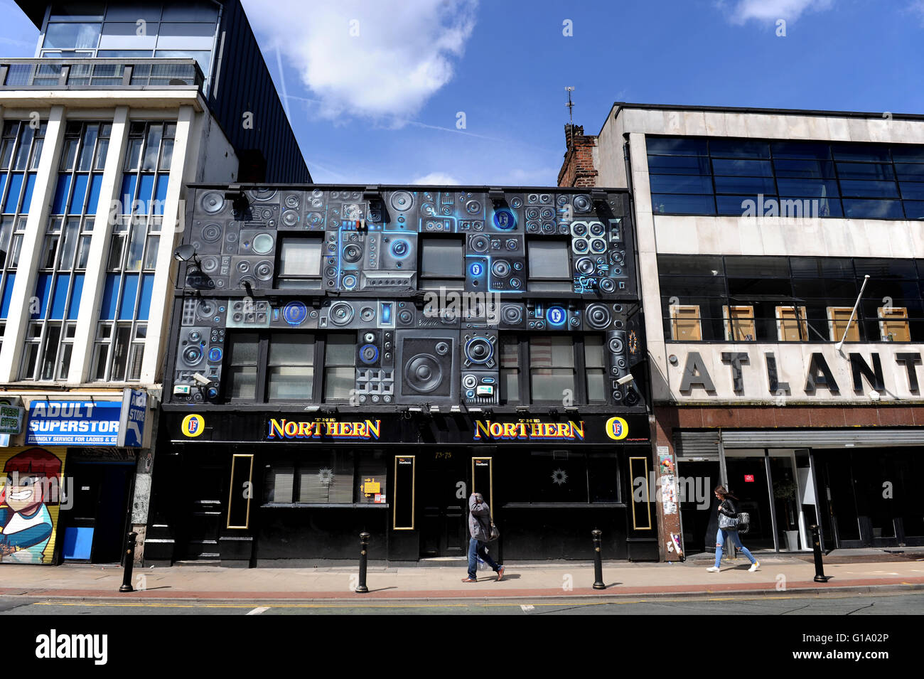 Oldham Street, Northern Quarter, Manchester, Tuesday May 10, 2016. - Stock Image