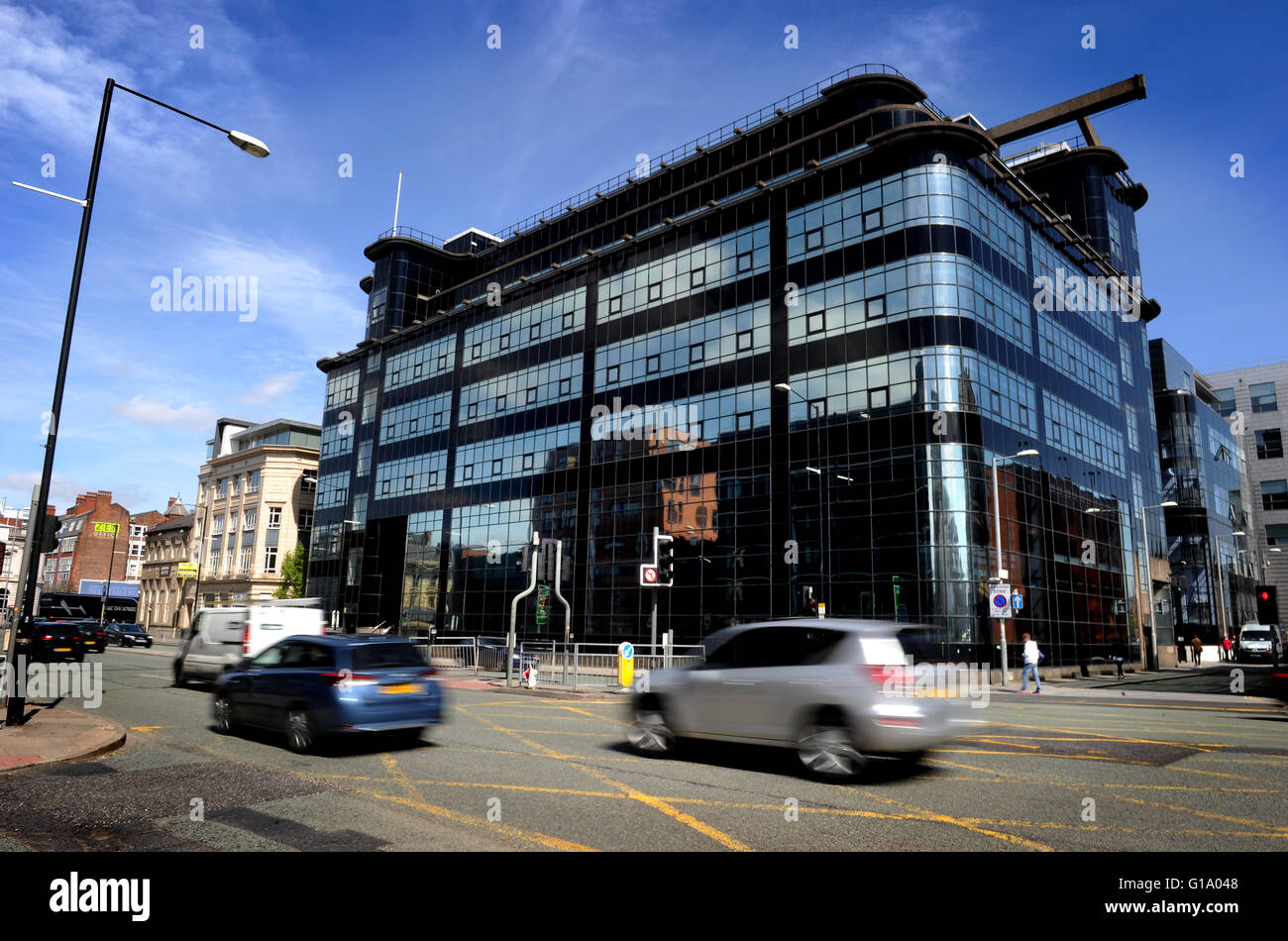Former Daily Express Building, Northern Quarter, Manchester UK. Picture by Paul Heyes, Tuesday May 10, 2016. - Stock Image