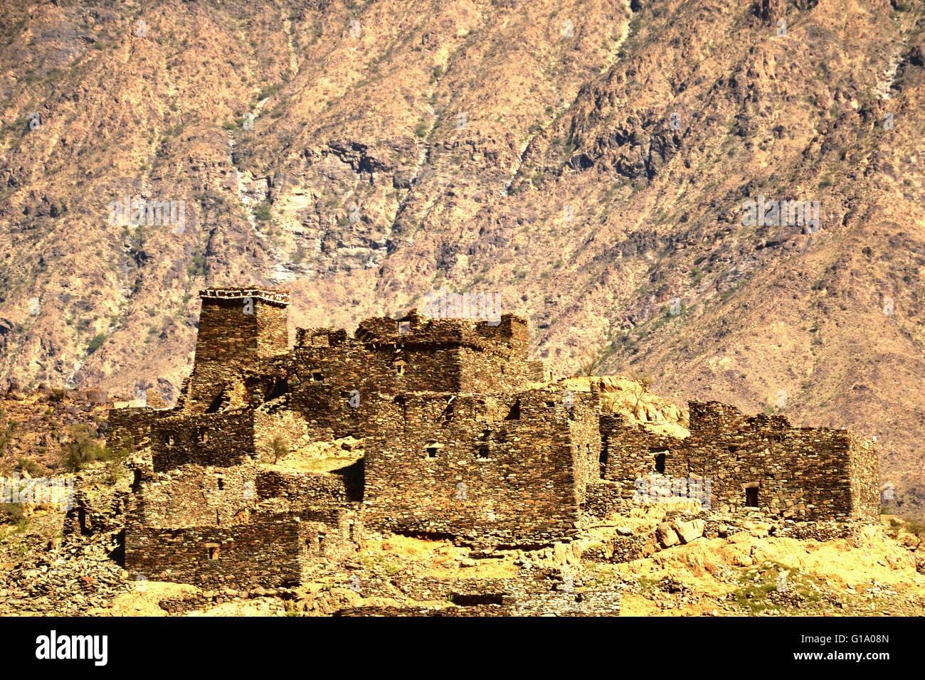 The Legend City, Thee Ain Villages, Al Baha, Saudi Arabia. - Stock Image