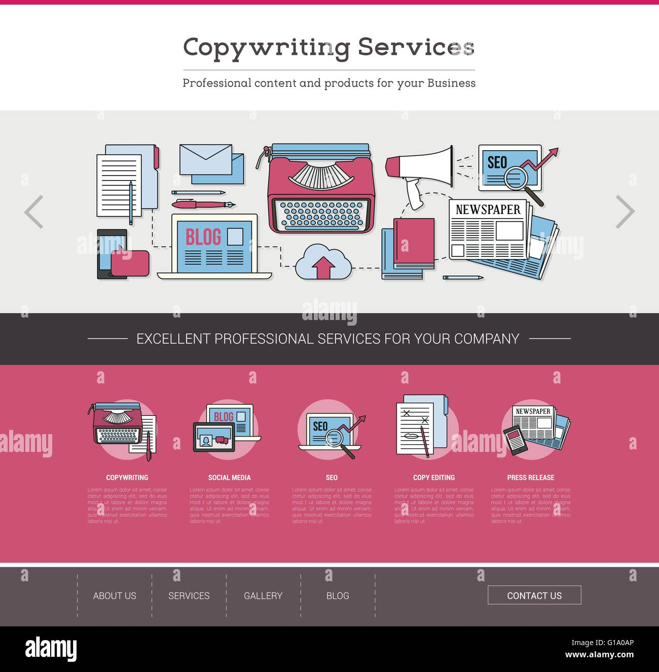 Copywriting and editing web template, seo, publishing and content ...
