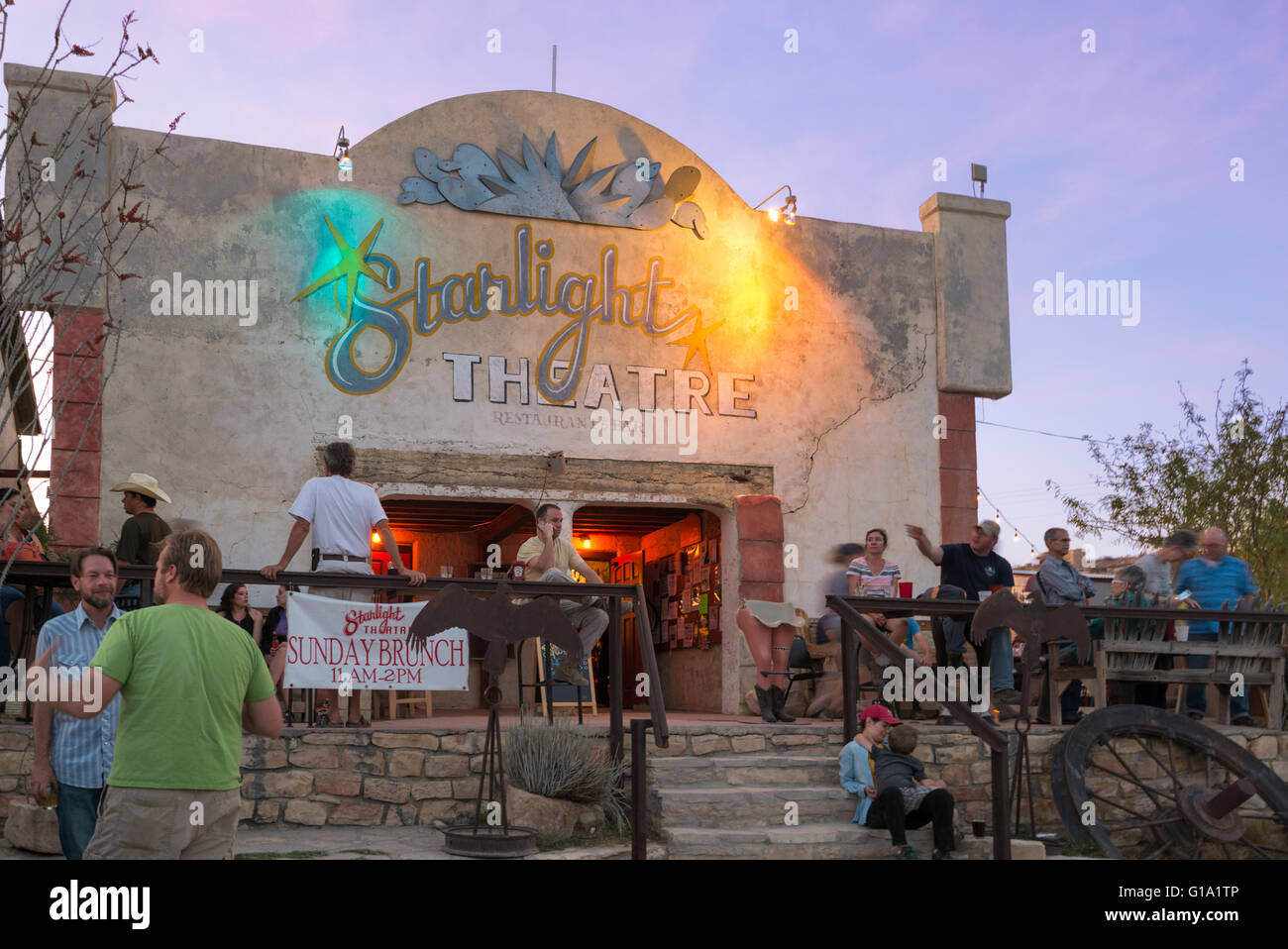 Starlight Theatre Restaurant And Saloon In Terlingua, Texas.   Stock Image