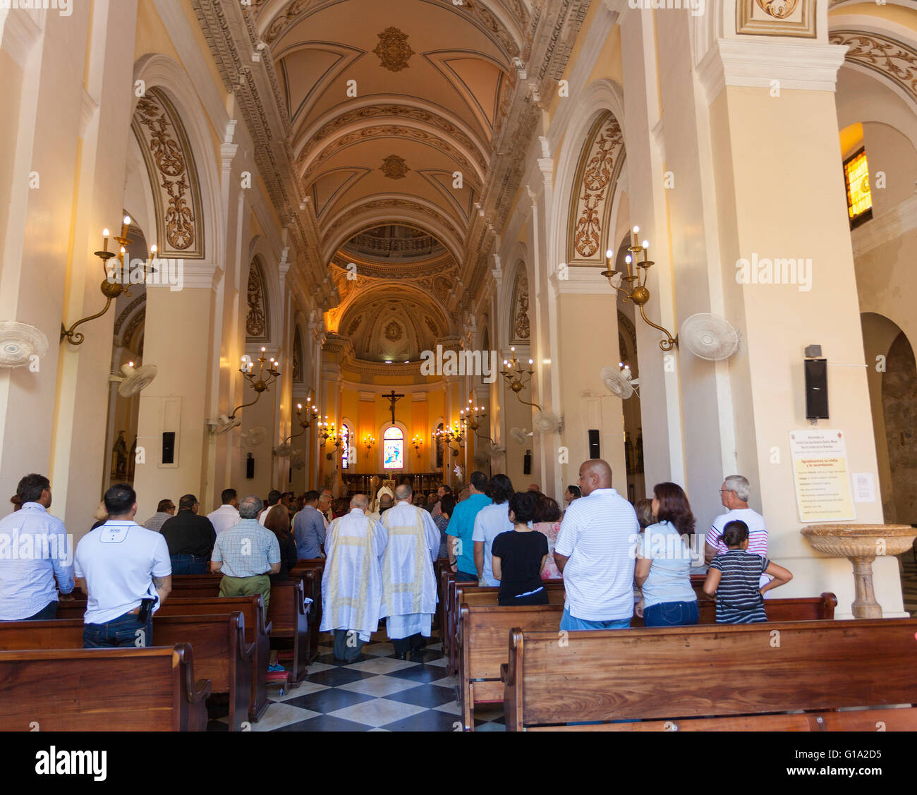 Cathedral of San Juan Bautista in Puerto Rico Stock Photo