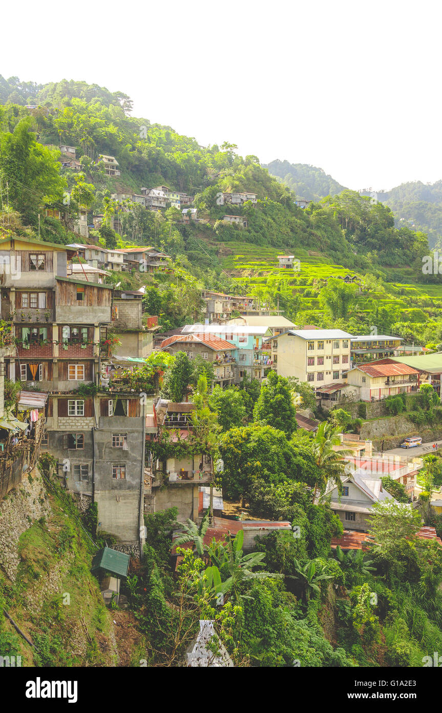 Banaue Village in Northen Luzon, the Philippines - Stock Image