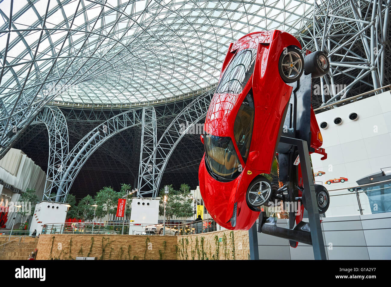 Ferrari World Abu Dhabi Stock Photos & Ferrari World Abu Dhabi Stock