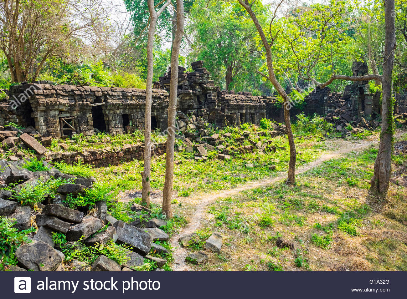 Banteay Chhmar, Angkorian-era temple ruins, Banteay Meanchey Province, Cambodia - Stock Image