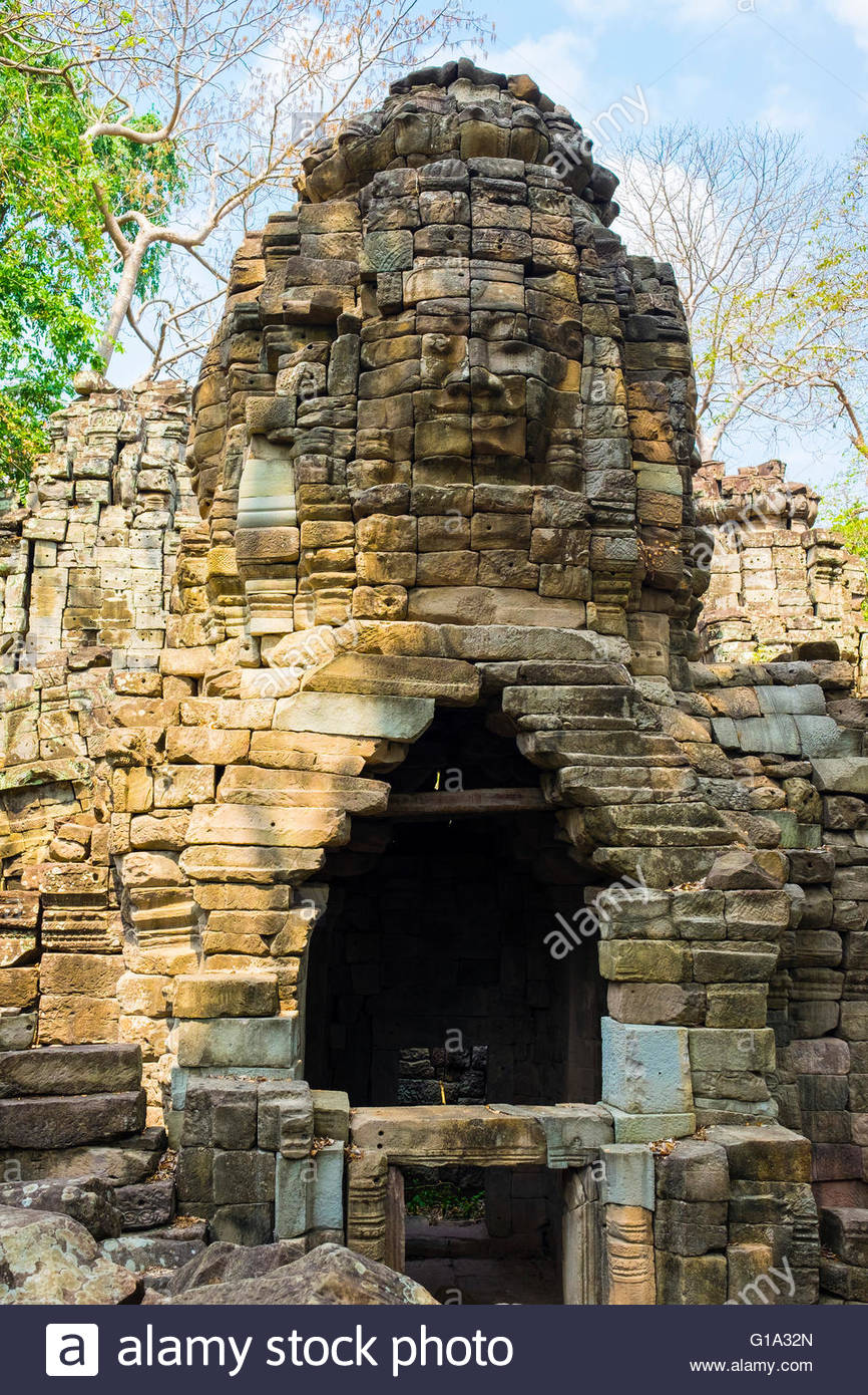 Banteay Chhmar, Ankorian-era temple ruins, Banteay Meanchey Province, Cambodia - Stock Image