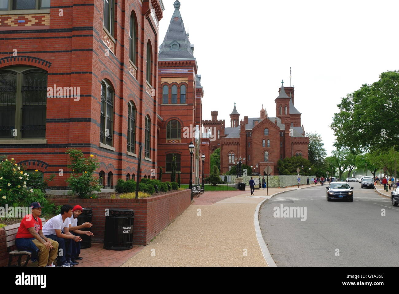 Street View of Arts and Industries Building, Smithsonian Institution - Stock Image