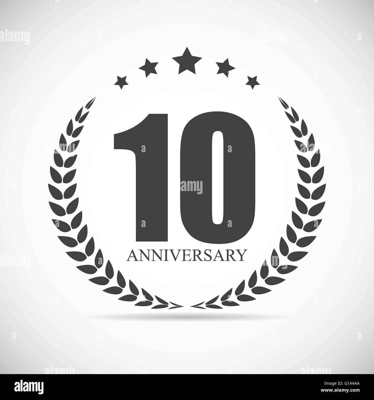 Template Logo 10 Years Anniversary Stock Photos Template Logo 10