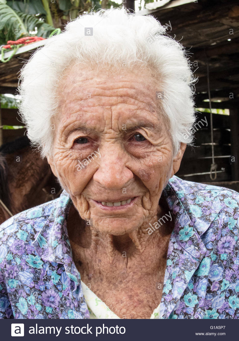 Great grandmother Marguerite, 100 years old, Vinales, Cuba © IndyFoto Stock Photo