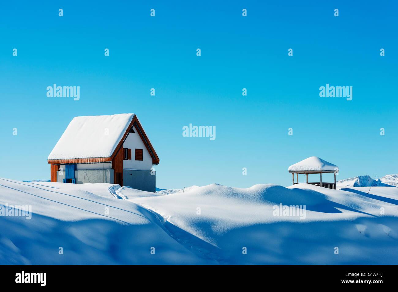 Eurasia, Caucasus region, Georgia, Gudauri ski resort Stock Photo