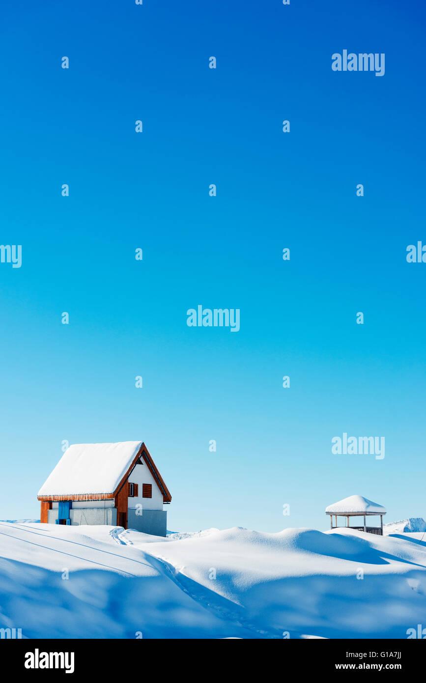 Eurasia, Caucasus region, Georgia, Gudauri ski resort - Stock Image