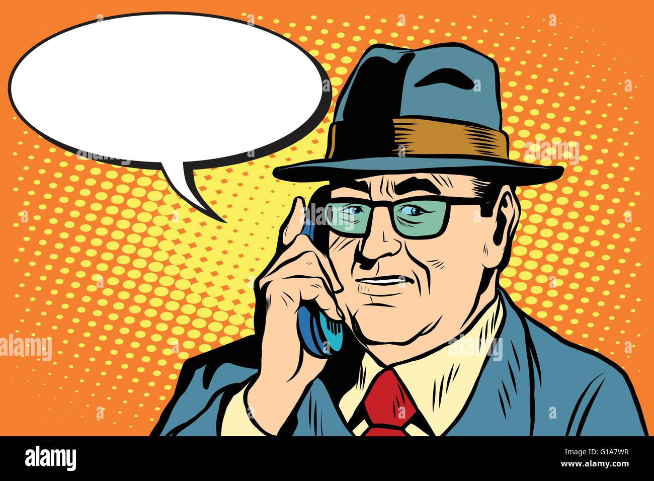 business boss Director says on the phone - Stock Vector