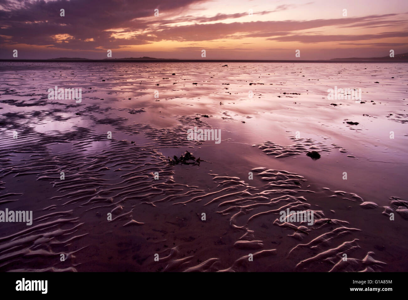 Carrick Shore at Sunset, Dumfries and Galloway, Scotland - Stock Image