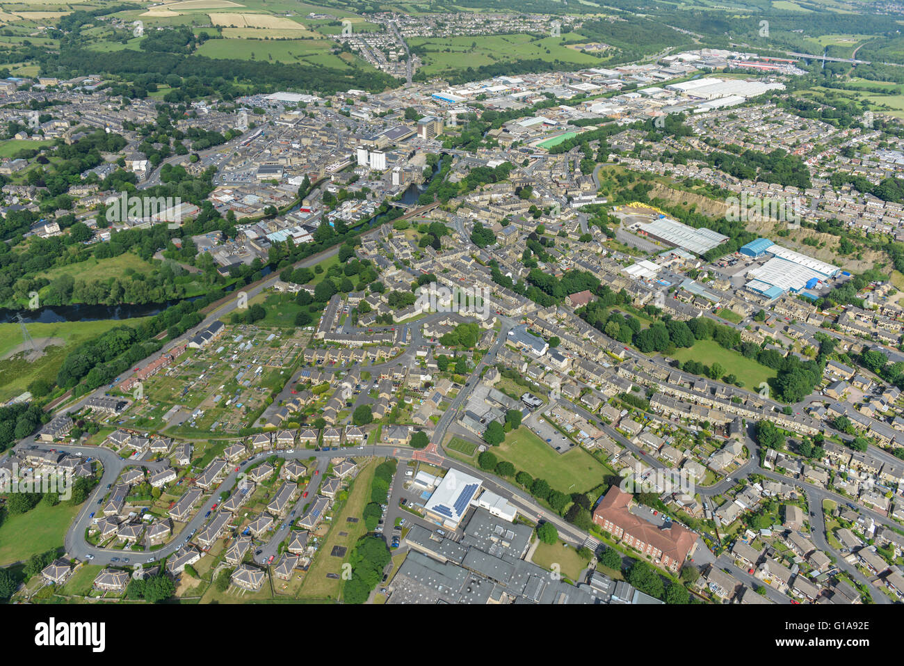 General views of the West Yorkshire town of Brighouse - Stock Image