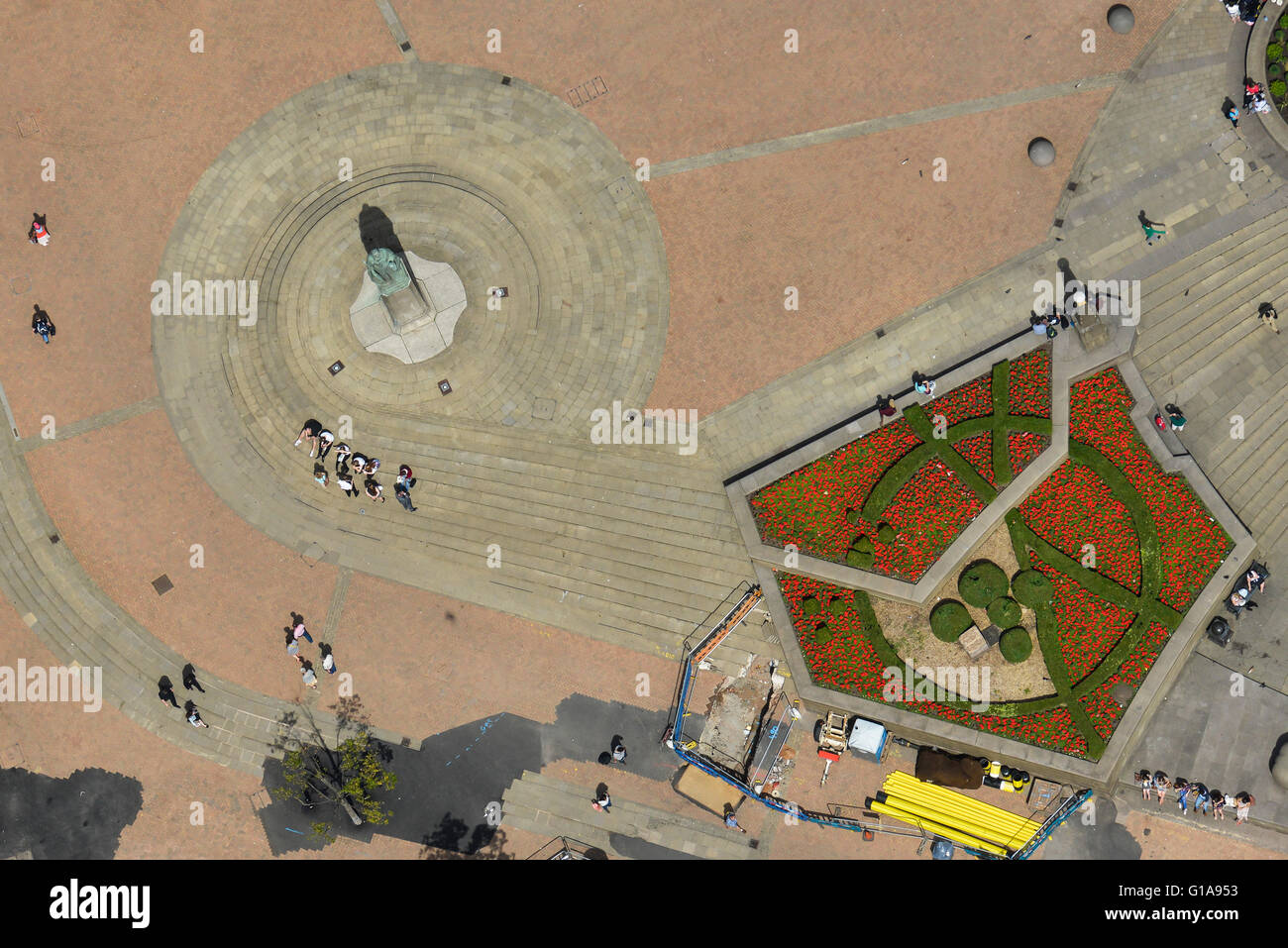 An aerial view of Victoria Square in central Birmingham, West Midlands - Stock Image
