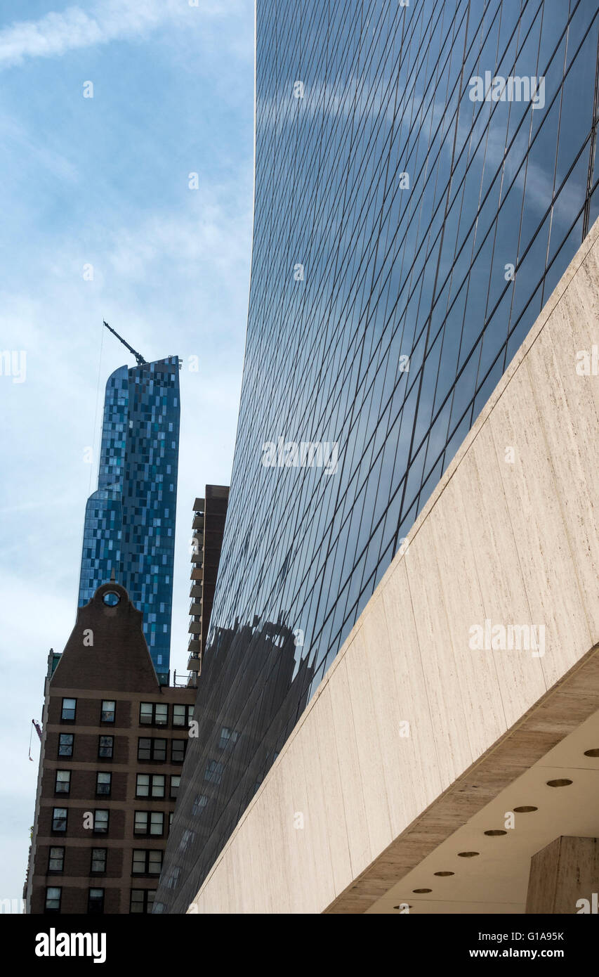 Skyscrapers at No. 9 at  57th Street in New York City - Stock Image