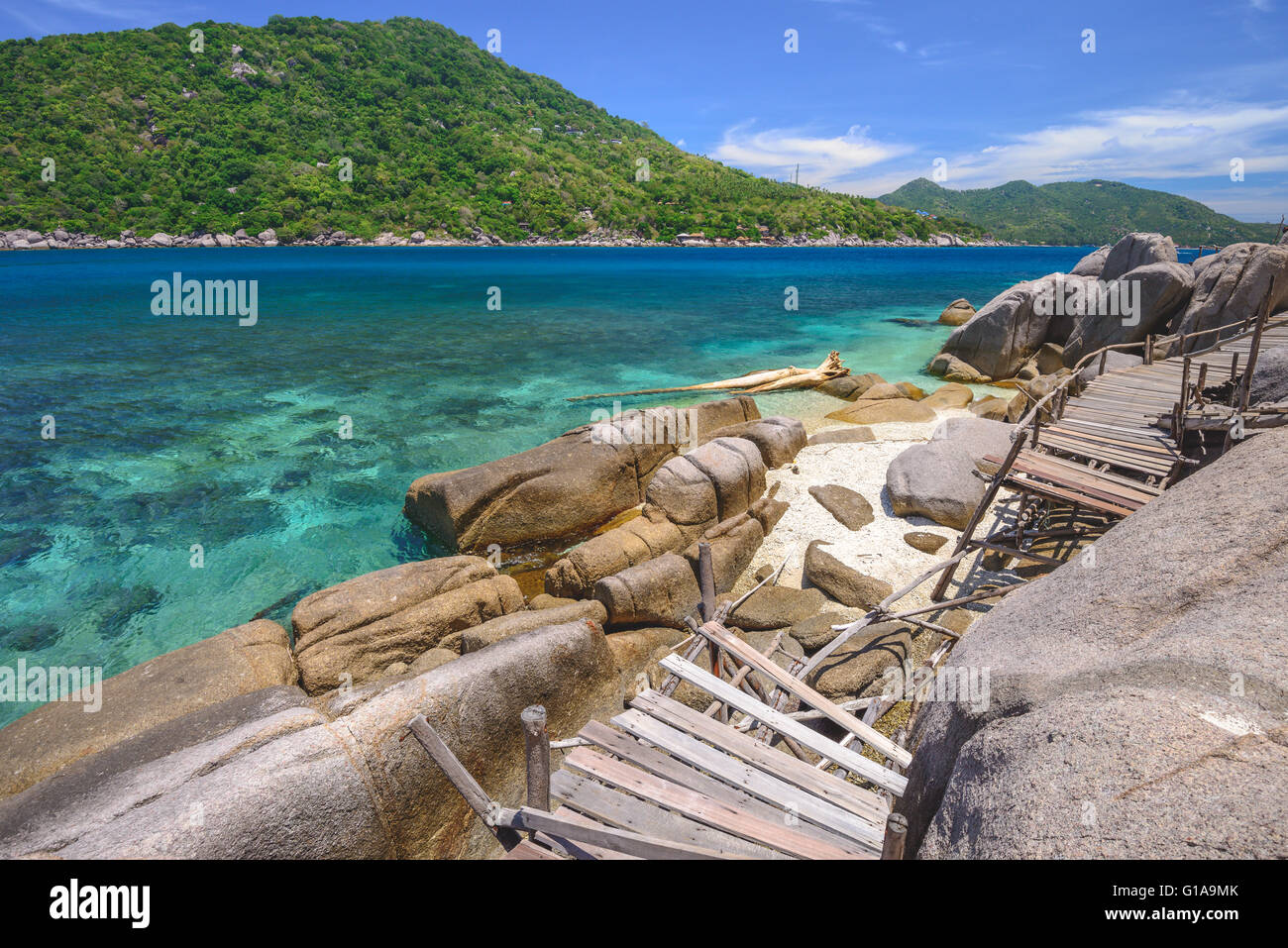 Koh Nangyuan island off the coast of Koh Tao in Thailand - Stock Image