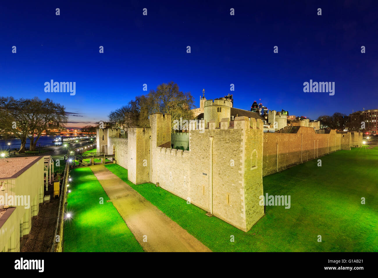 The famous Tower of London, United Kingdom - Stock Image