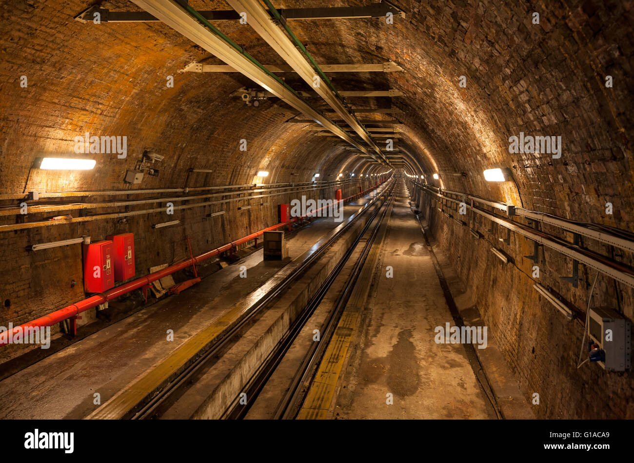 Old tunnel between Karakoy and Beyoglu - Stock Image