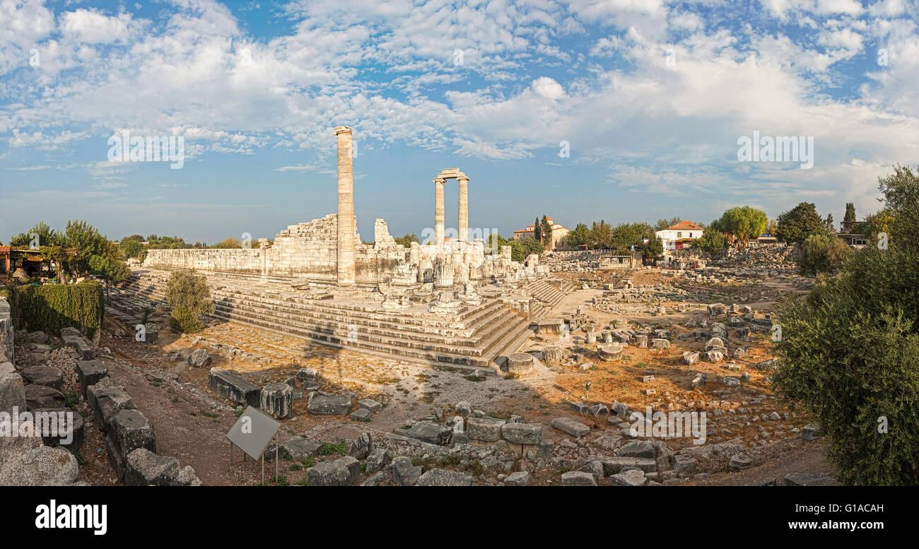 Temple of Apollo in antique city of Didyma - Stock Image