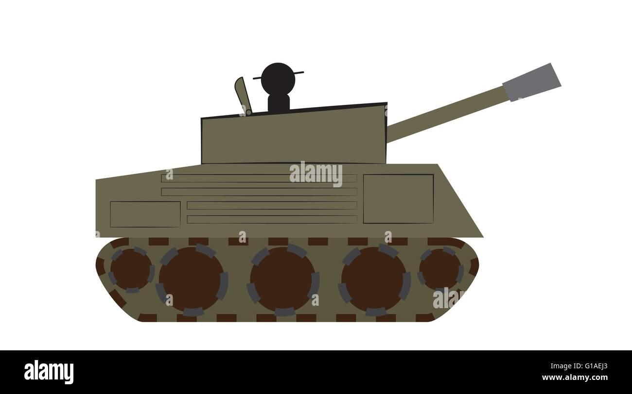 Illustration of a tank - Stock Vector