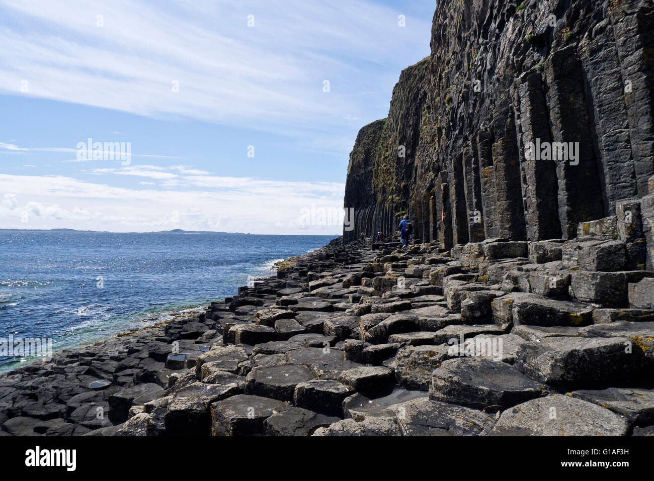 Fingal,s Cave, Isle of Staffa, Inner Hebrides, Scotland also known as An Uaimh Bhinn or' the melodious cave'. - Stock Image