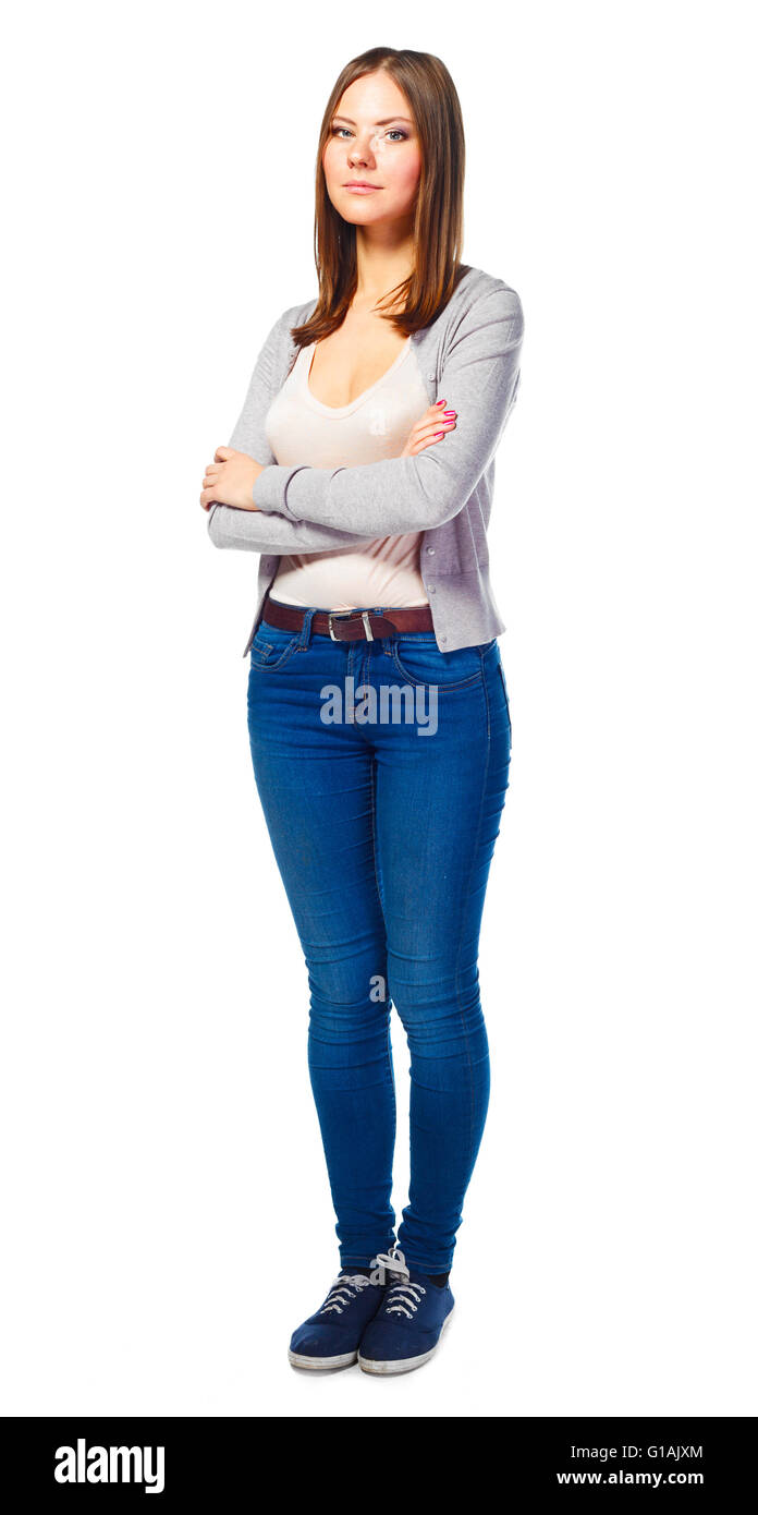 young student woman - Stock Image