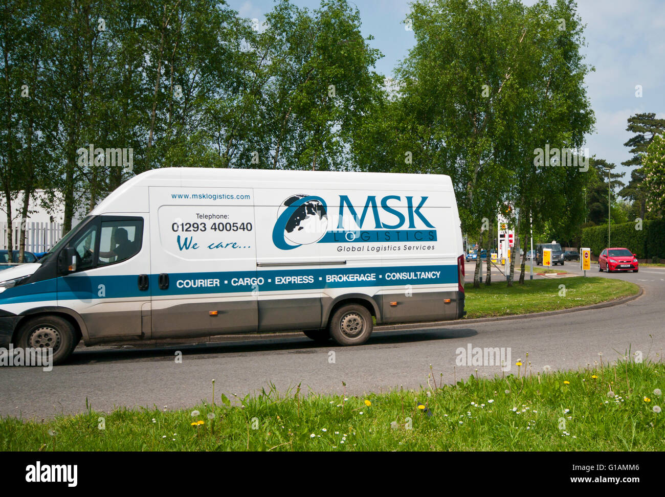 Side View Of a MSK Logistics Van - Stock Image