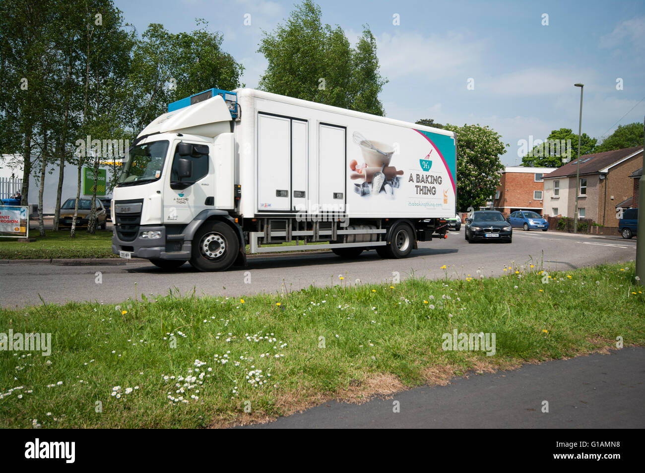 Side View Of Its A baking Thing Lorry - Stock Image