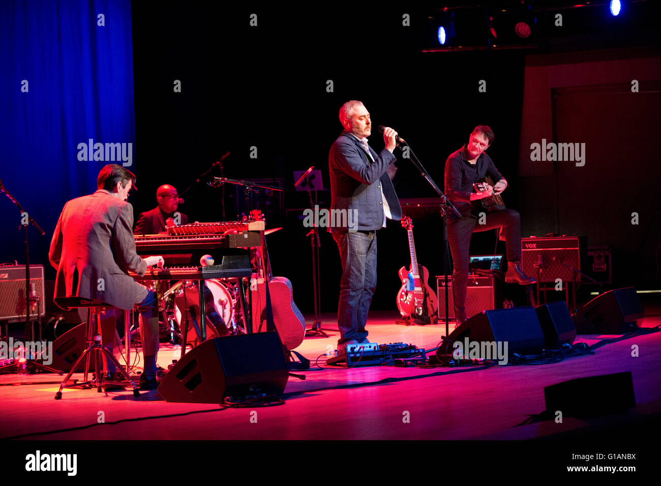 Tindersticks, with lead singer Stuart A Staples in concert at The Bridgewater Hall, Manchester, 2nd May 2016 - Stock Image