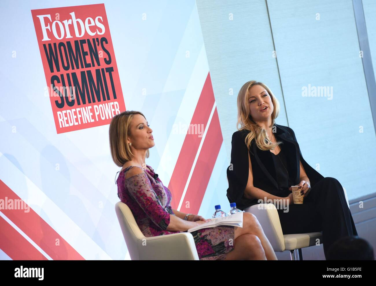 New York, NY, USA. 12th May, 2016. Amy Robach, Kate Hudson in attendance for Forbes Women's Summit, Pier 60, Chelsea Stock Photo