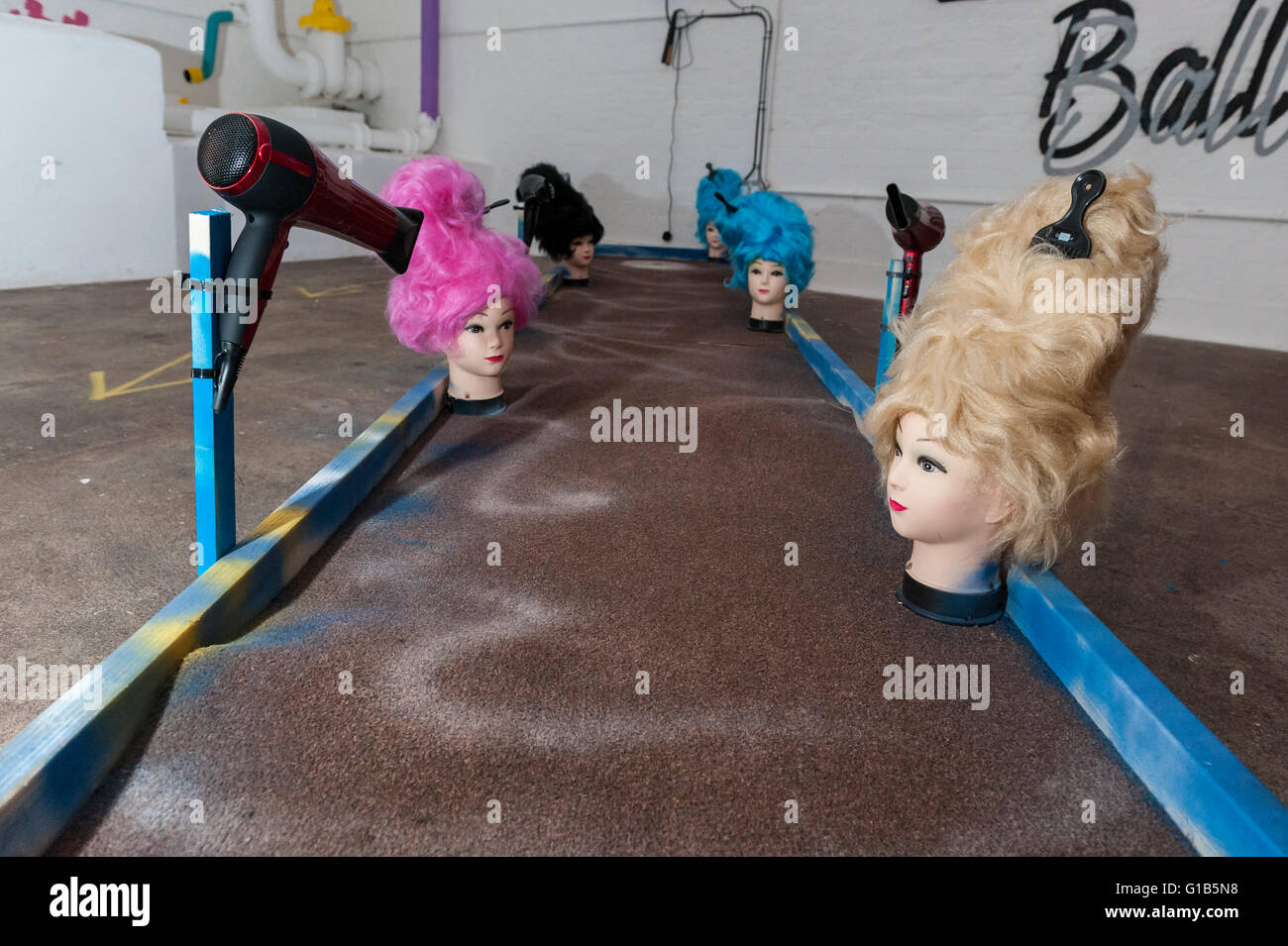 London, UK.  12 May 2016.  Junkyard Golf opens at the Old Truman Brewery, near Brick Lane in East London and will - Stock Image