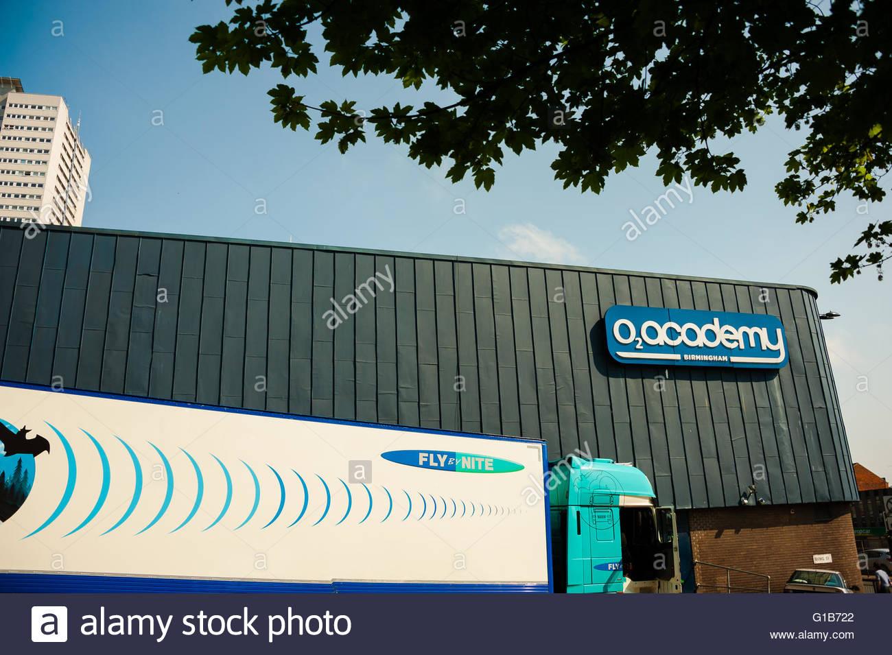 Birmingham, England, UK. 12th May 2016. UK Weather, Sunshine in Birmingham The o2 Academy Birmingham is a music Stock Photo