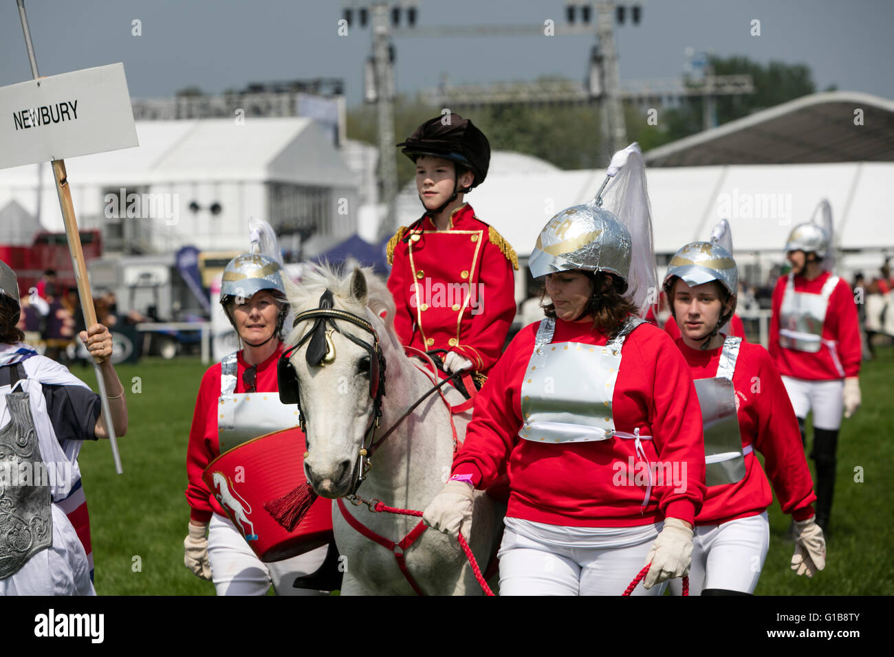 Royal Windsor Horse Show 2016. Competitors in The Riding for the Disabled Fancy Dress '60 Glorious Years'. - Stock Image