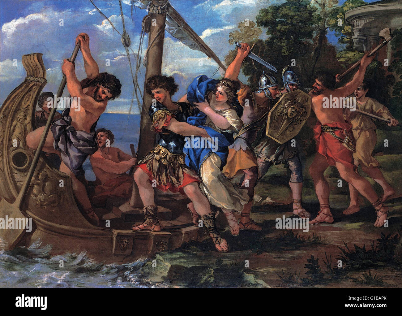Giovanni Francesco Romanelli - The Elena kidnapping - Musei Capitolini Roma - Stock Image