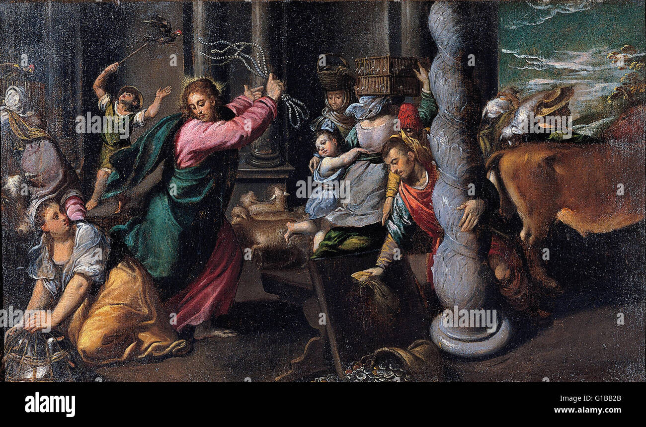 Scarsellino - Driving of the merchants from the temple - Musei Capitolini Roma - Stock Image