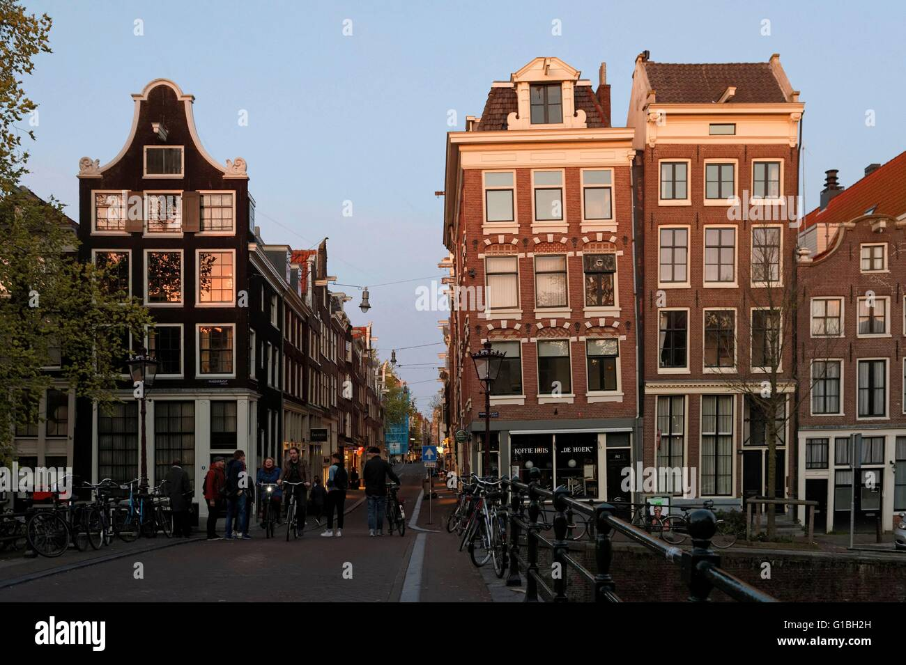 Netherlands, Nothern Holand, Amsterdam, 17th century canal ring area inside the Singelgracht, listed as World Heritage - Stock Image