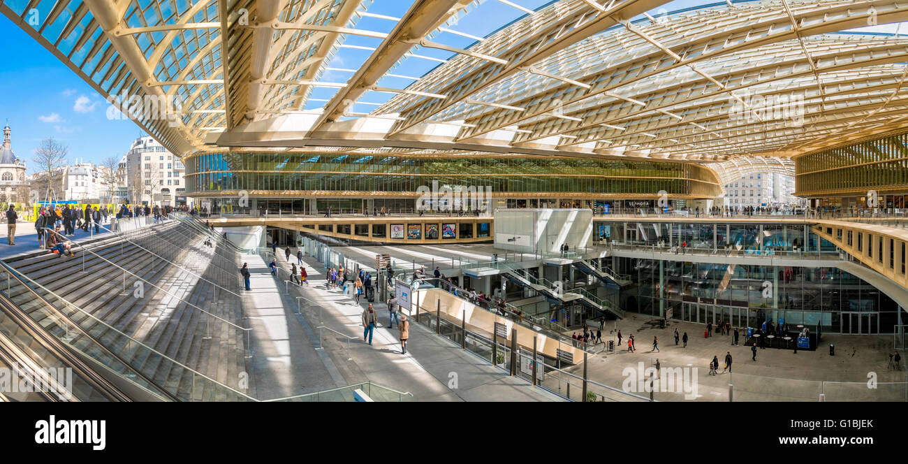 france paris the forum des halles canopy made of glass and metal stock photo 104132859 alamy. Black Bedroom Furniture Sets. Home Design Ideas