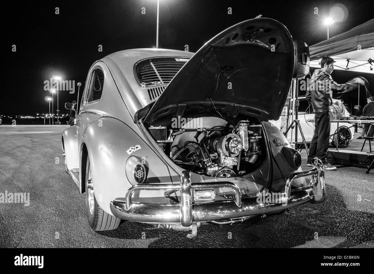 Sydney, Australia - 31st July 2015: Modified and exotic car / bike enthusiasts headed to the July end of month meet - Stock Image