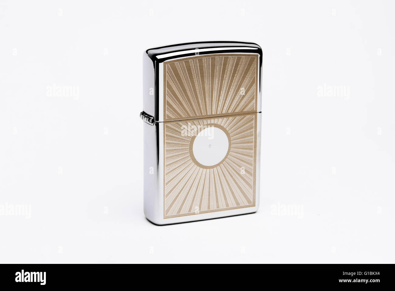 Normal zippo lighter image  taken from brazil in studio - Stock Image