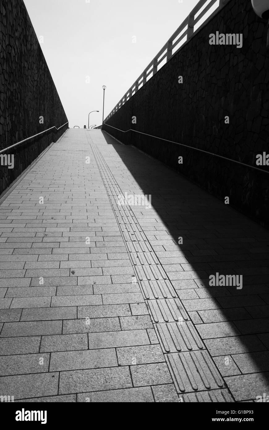 Enoshima pedestrian walkway - Stock Image