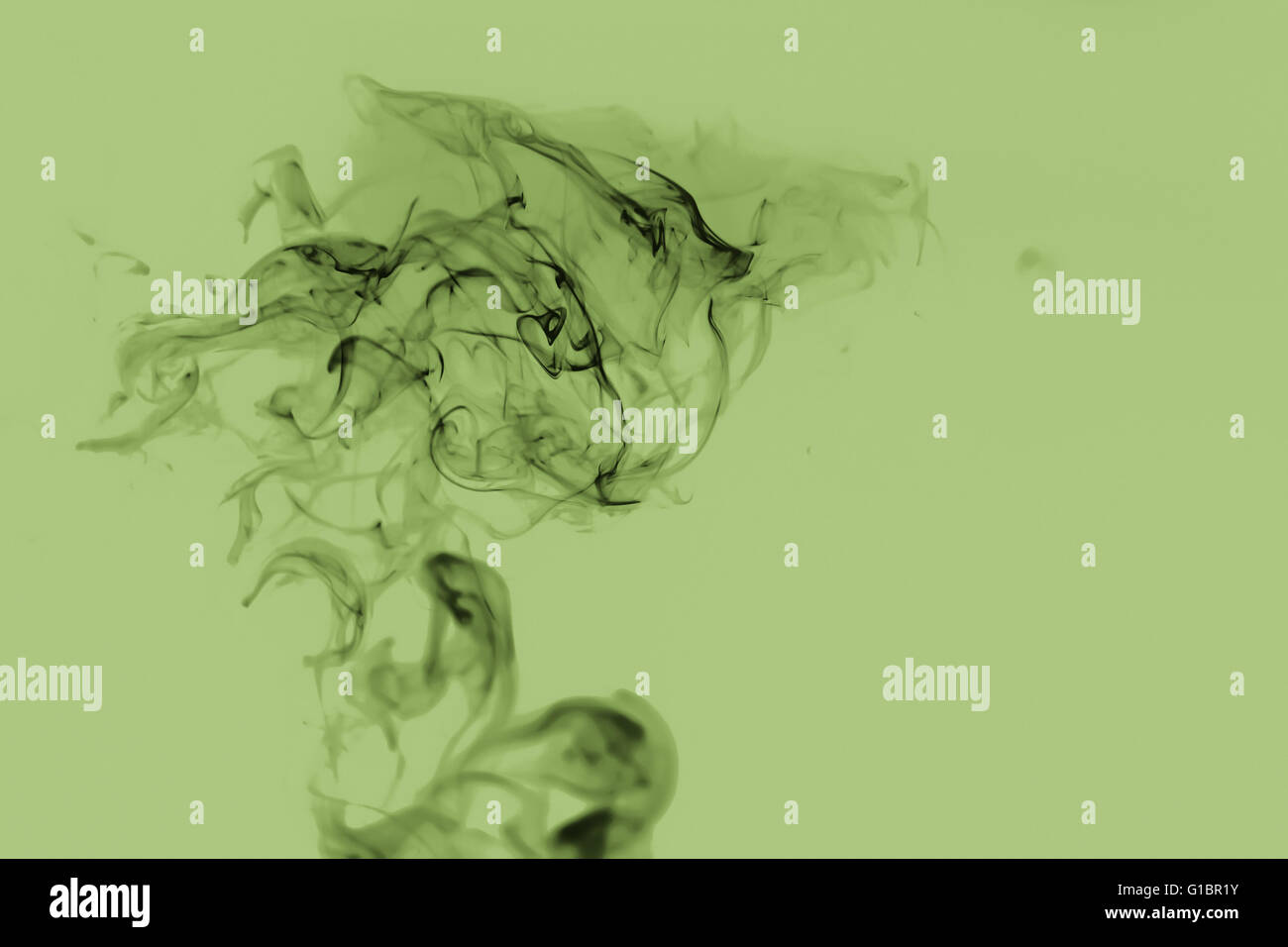 Nice abstraction with smoke in blue-grey colours - Stock Image