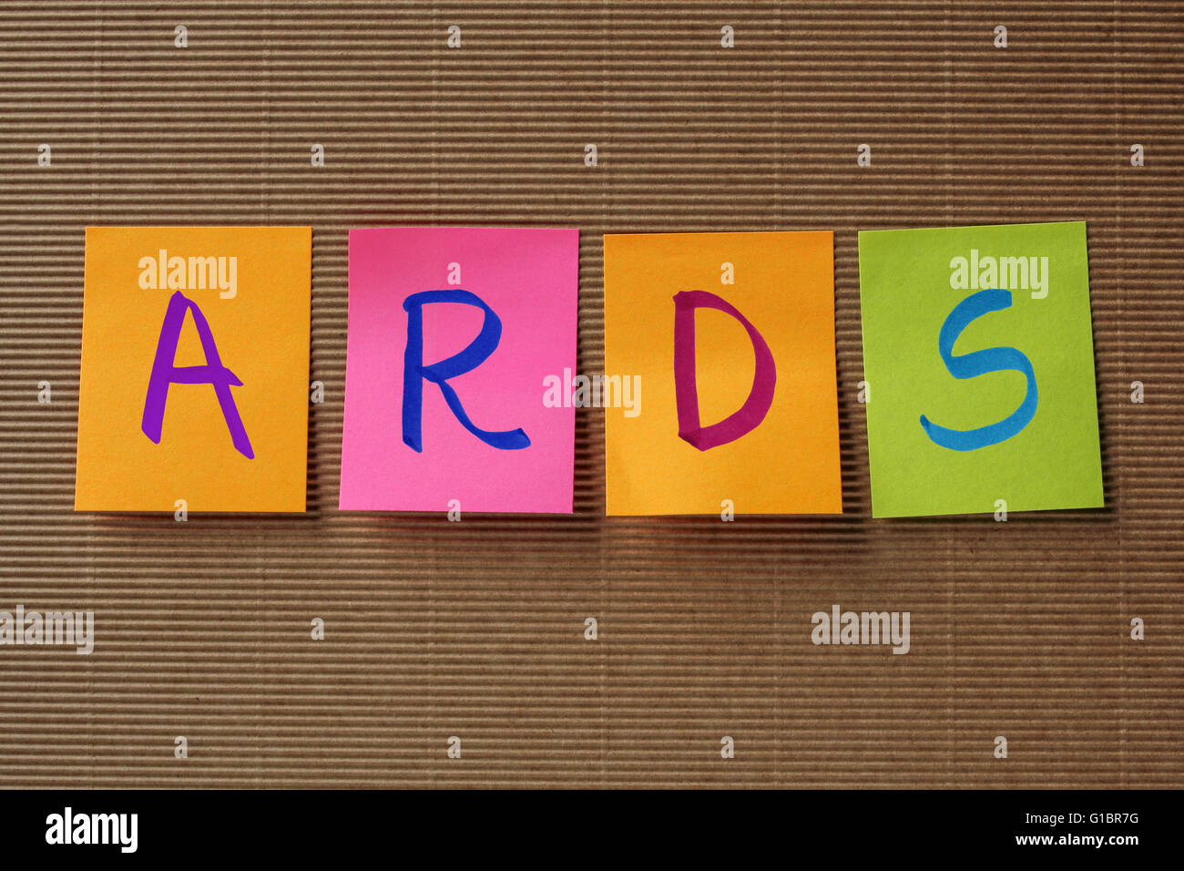 BPD (Borderline Personality Disorder) acronym on colorful sticky notes - Stock Image