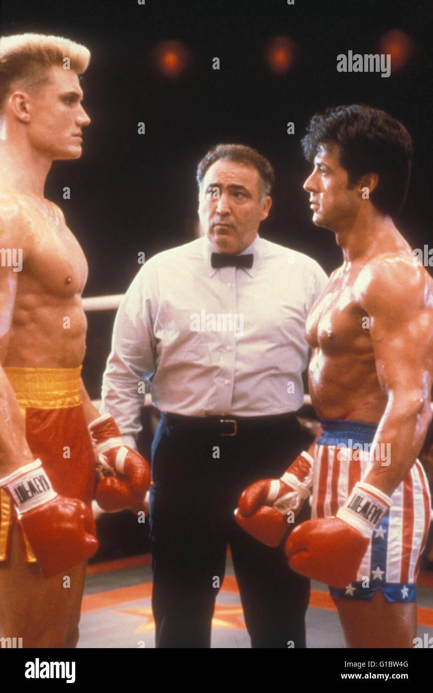 Rocky  - Der Kampf des Jahrhunderts / Dolph Lundgren / Sylvester Stallone / Rocky - Edition - Stock Image