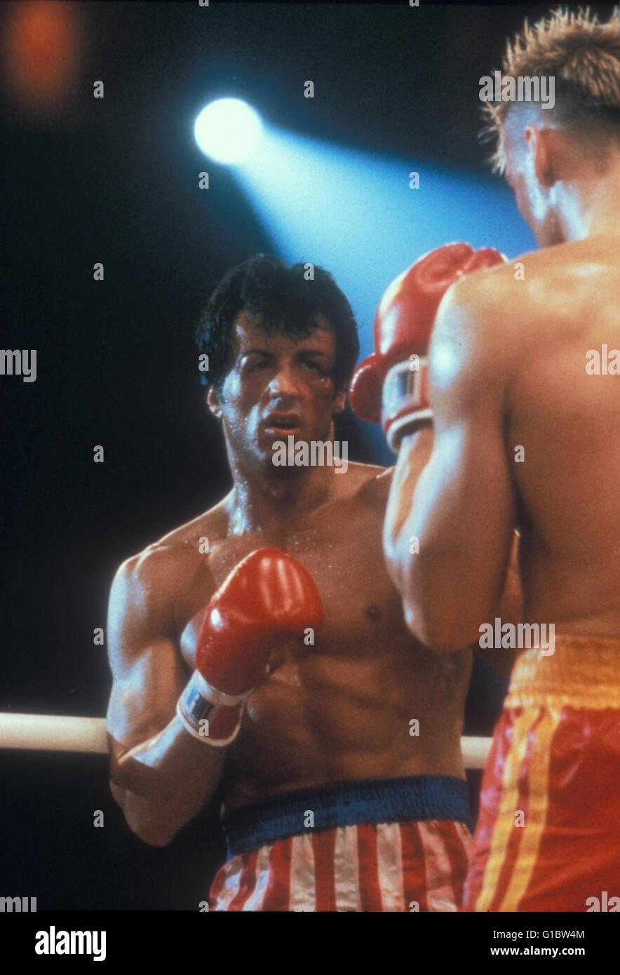 Rocky  - Der Kampf des Jahrhunderts / Sylvester Stallone / Rocky - Edition - Stock Image